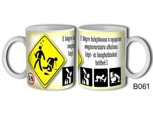 (B061) Bögre 3 dl - E bögre tulajdonosa – Vicces ajándék
