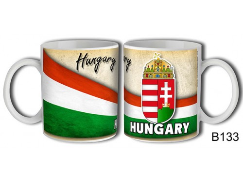 (B133) Bögre 3 dl - Hungary címeres - Magyar souvernis