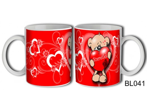 (BL041) Bögre 3 dl - Szeretlek Maci – Szerelmes pároknak ajándék