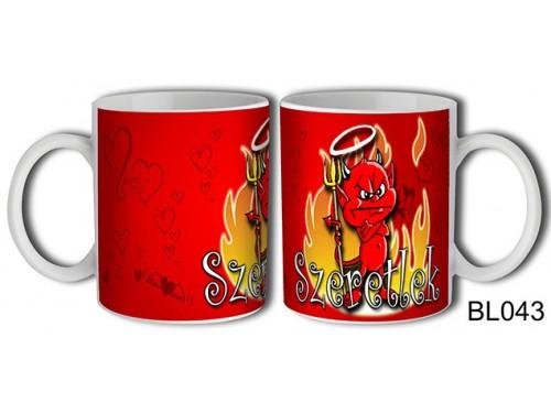 (BL043) Bögre 3 dl- Szeretlek Morcos ördög – Szerelemes bögre – Szerelmes pároknak ajándék