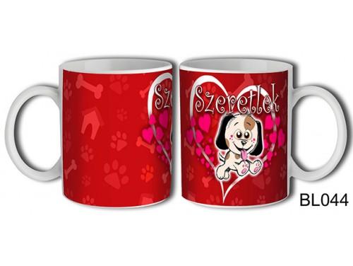 (BL044) Bögre 3 dl - Szeretlek Kutyus –  Szerelmes pároknak ajándék