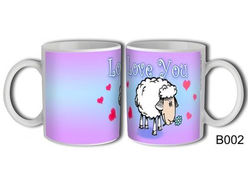 (B002) Bögre 3 dl - Bárány Love You – Szerelemes bögre – Szerelmes pároknak ajándék