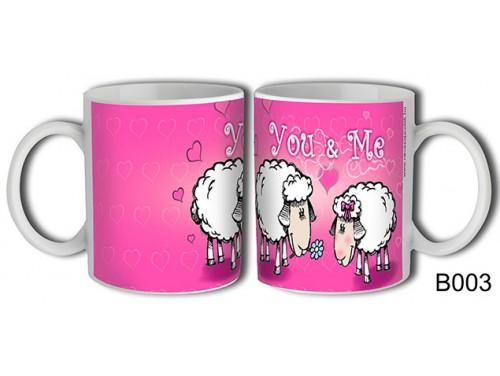 (B003) Bögre 3 dl - Bárányok You & Me - Szerelmes ajándékok - Valentin napi ajándékok