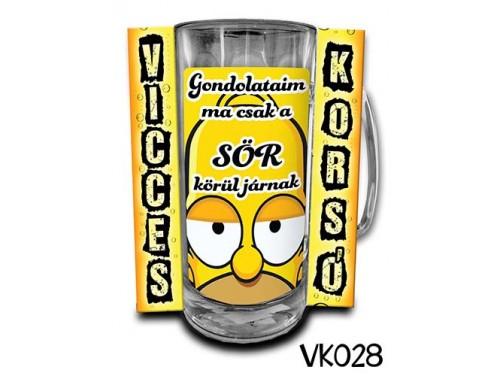 (VK028) Vicces Korsó 0,33 L - Gondolataim ma – Vicces Ajándék