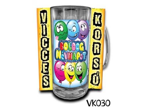 (VK030) Vicces Korsó 0,33 L - Boldog Névnapot – Névnapi ajándék