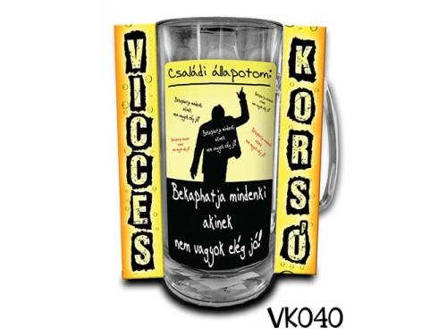 (VK040) Vicces Korsó 0,33 L - Családi állapotom – Vicces Ajándék