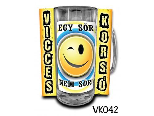 (VK042) Vicces Korsó 0,33 L - Egy sör nem sör – Vicces Ajándék