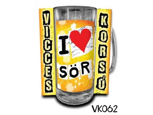 (VK062) Vicces Korsó 0,33 L - I love SÖR – Vicces Ajándék