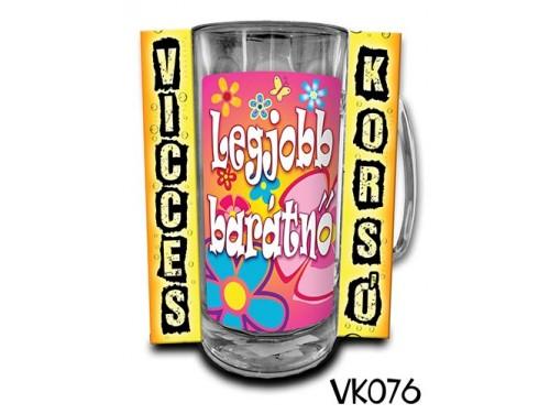 (VK076) Vicces Korsó 0,33 L - Legjobb barátnő – Ajándék Barátnőnek