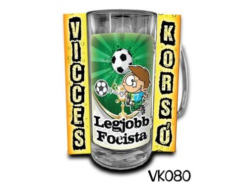 (VK080) Vicces Korsó 0,33 L - Legjobb Focista – Focis Ajándékok