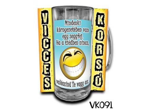 (VK091) Vicces Korsó 0,33 L - Mindenki környezetében – Vicces Ajándék