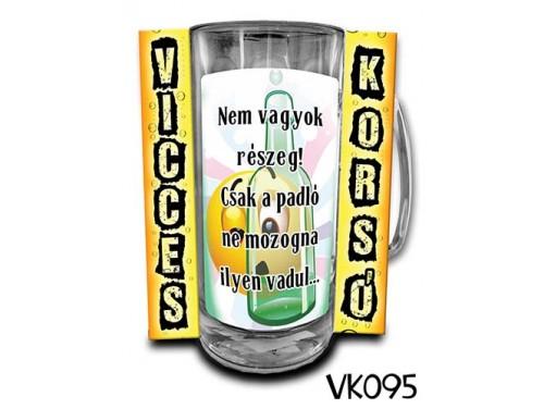(VK095) Vicces Korsó 0,33 L - Nem vagyok részeg – Vicces Ajándék