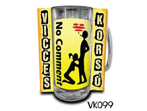 (VK099) Vicces Korsó 0,33 L - No Comment – Vicces Ajándék