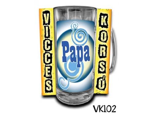 (VK102) Vicces Korsó 0,33 L - Papa – Ajándék Papáknak