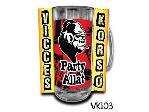 (VK103) Vicces Korsó 0,33 L - Party állat – Vicces Ajándék