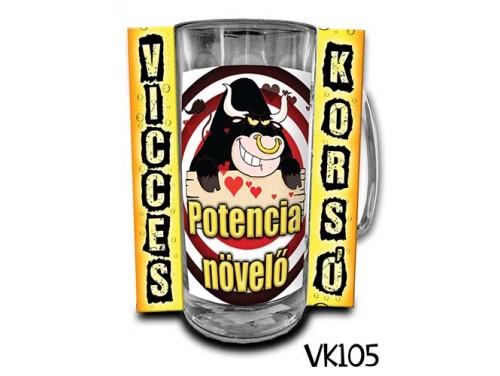 (VK105) Vicces Korsó 0,33 L - Potencia növelő - Vicces Ajándék