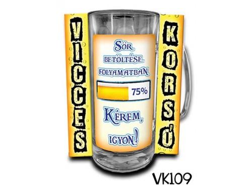 (VK109) Vicces Korsó 0,33 L - Sör betöltése – Vicces Ajándék