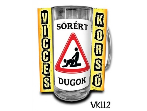 (VK112) Vicces Korsó 0,33 L - Sörért dugok – Vicces Ajándék