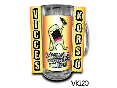 (VK120) Vicces Korsó 0,33 L - Utálom a sört.... – Vicces Ajándék
