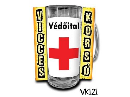 (VK121) Vicces Korsó 0,33 L - Védőital – Vicces Ajándék
