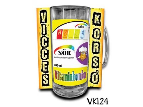 (VK124) Vicces Korsó 0,33 L - Vitaminbomba – Vicces Ajándék