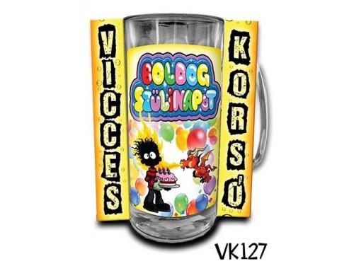 (VK127) Vicces Korsó 0,33 L - Boldog Szülinapot sárkányos – Vicces Ajándék
