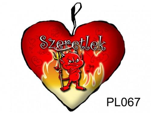 (PL067) Párna Kis Szív 25cm - Morcos ördög - Szerelmes Ajándékok