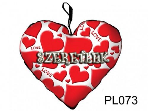 (PL073) Párna Kis Szív 25cm - Szives Szeretlek  - Szerelmes Ajándékok