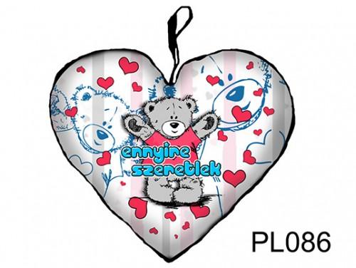 (PL086) Párna Kis Szív 25cm - Ennyire Szeretlek - Szerelmes Ajándékok