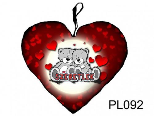 (PL092) Párna Kis Szív 25cm - Maci pár - Szerelmes Ajándékok