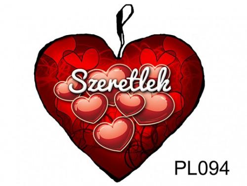(PL094) Párna Kis Szív 25cm - Szeretlek - Szerelmes Ajándékok