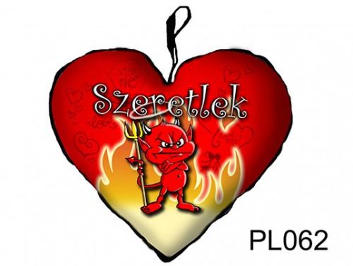 (PL062) Párna Nagy Szív 45cm - Morcos ördög - Szerelmes Ajándékok