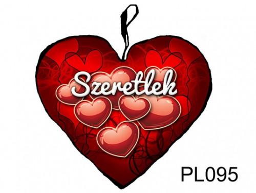 (PL095) Párna Nagy Szív 45cm - Szives Szeretlek - Szerelmes Ajándékok
