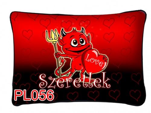 (PL056) Párna 37 cm x 27 cm - Kedves ördög - Szerelmes Ajándékok
