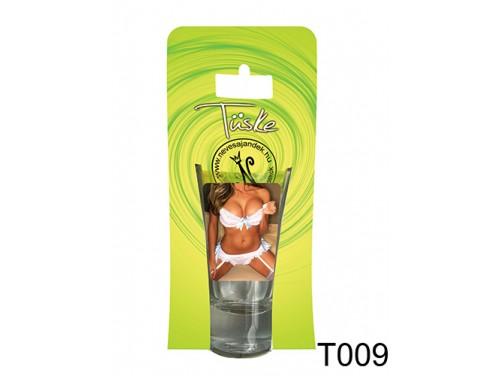 (T009) Vicces Pálinkás pohár 0,75 ml - Fehérneműs csaj - Ajándék férfiaknak