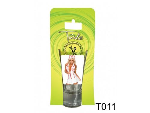 (T011) Vicces Pálinkás pohár 0,75 ml - Nővérke - Ajándék férfiaknak