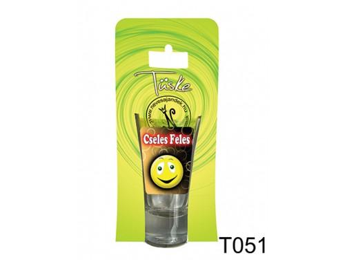 (T051) Vicces Pálinkás pohár 0,75 ml - Cseles feles - Vicces Ajándékok