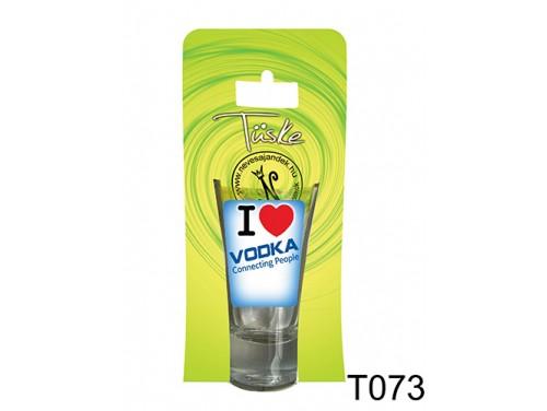 (T073) Vicces Pálinkás pohár 0,75 ml - I love vodka - Vicces Ajándékok
