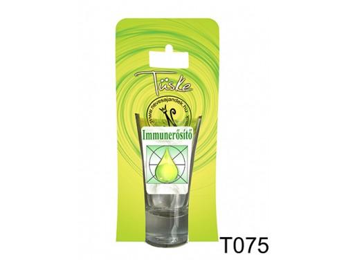(T075) Vicces Pálinkás pohár 0,75 ml - Immunerősítő - Vicces Ajándékok