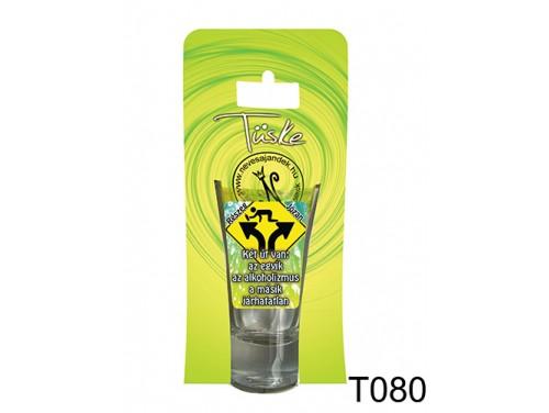 (T080) Vicces Pálinkás pohár 0,75 ml - Két út van... - Vicces Ajándékok