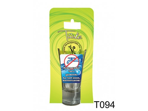 (T094) Vicces Pálinkás pohár 0,75 ml - Nekem vasból van a gyomrom... - Vicces Ajándékok