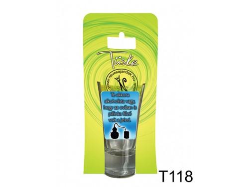 (T118) Vicces Pálinkás pohár 0,75 ml - Te akkora alkoholista vagy... - Vicces Ajándékok