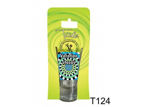 (T124) Vicces Pálinkás pohár 0,75 ml - Váratlan utazás - Vicces Ajándékok