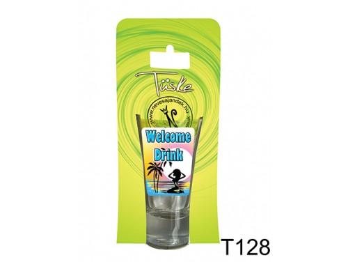 (T128) Vicces Pálinkás pohár 0,75 ml - Welcome Drink - Vicces Ajándékok