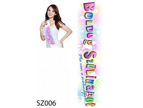 (SZ006) Vállszalag 10 cm x 80 cm - Boldog Szülinapot - Szülinapi vállszalag
