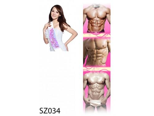 (SZ034) Vállszalag 10 cm x 80 cm - Izmos férfi testek - Ajándék Nőknek