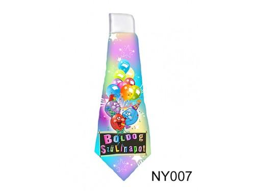 (NY007) Nyakkendő 37 cm x 13 cm - Boldog Születésnapot – Szülinapi Ajándékok