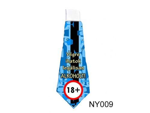 (NY009) Nyakkendő 37 cm x 13 cm - Végre ihatok legálisan ALKOHOLT! – 18. Szülinapi ajándék ötletek