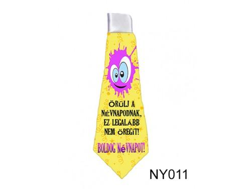 (NY011) Nyakkendő 37 cm x 13 cm - Boldog Névnapot - Névnapi Ajándékok