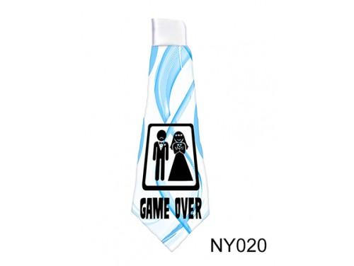 (NY020) Nyakkendő 37 cm x 13 cm - Game Over - Legénybúcsús Ajándékok